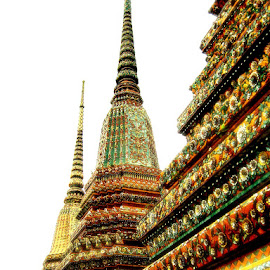 Buddhist temple Wat Arun, Bangkok, Thailand by Alka Smile - Buildings & Architecture Public & Historical
