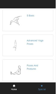 yoga poses - screenshot