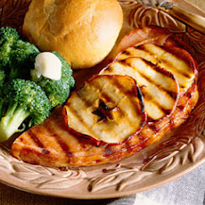 Grilled Ham and Apples