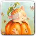 Pumpkin Kitten Wallpaper Free icon