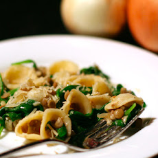 Orecchiette with Lentils, Onions, and Spinach