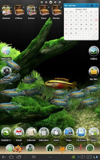 Aquarium Theme for TABLETs