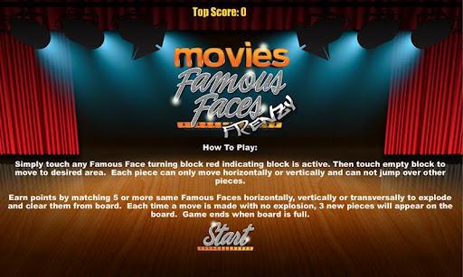 Famous Faces Movie Puzzle Game