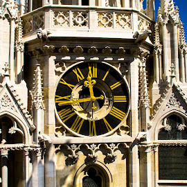 Cathedral clock by Tihomir Beller - Buildings & Architecture Architectural Detail ( clock, croatia, cathedral, zagreb )