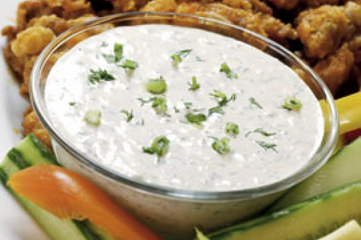 Blue Cheese Dip with Onion and Celery