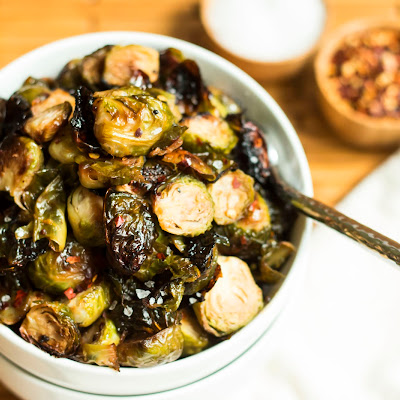 Spicy Honey Mustard Brussel Sprouts