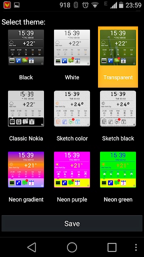 Organizer Widget - screenshot