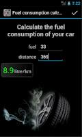 Screenshot of Fuel Consumption Calc. DEMO