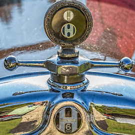 Antique car hood by Izzy Kapetanovic - Artistic Objects Antiques ( car, hupmobile, rockville, show, antique, classic )