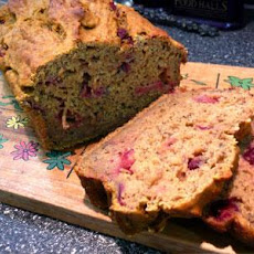 Pumpkin Banana Cranberry Bread