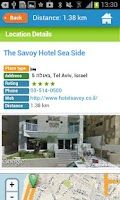 Screenshot of Tel Aviv City Guide Map Hotels