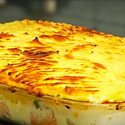 Simple Fish Pie with Peas