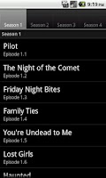 Screenshot of TVD Episode Guide