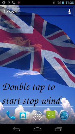 3D英国国旗ライブ壁紙無料
