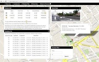 Screenshot of Cell Phone Tracker