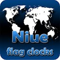 Niue flag clocks icon