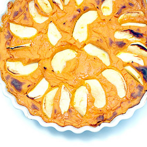 Vegan Baked Kuri Kabocha Squash and Apple Maple Pudding (or crustless pie)