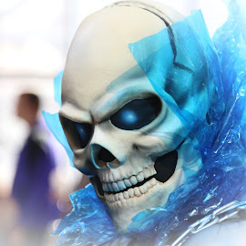 The Skull by Victor Mirontschuk - People Street & Candids ( skull, comic con, costume, nyc, man )