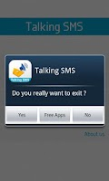 Screenshot of Talking SMS