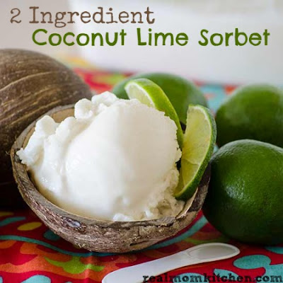 2 Ingredient Coconut Lime Sorbet