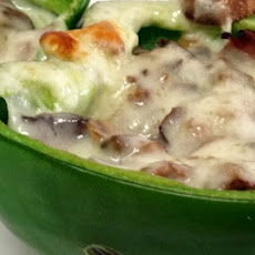 Cheese Steak Stuffed Bell Peppers