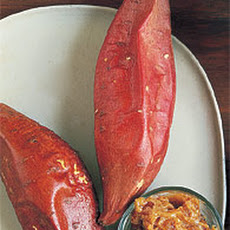 Baked Yams with Ginger-Molasses Butter