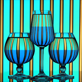 Hues of blue by Rakesh Syal - Artistic Objects Glass