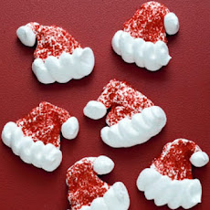 Santa Hats Meringue Cookies