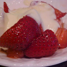 Brown-Sugared Strawberries with Creme Anglaise