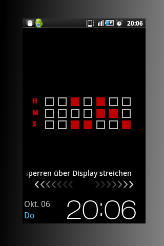 Binary Clock Live Wallpaper