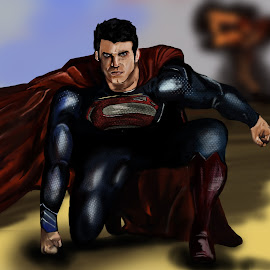 Superman by Austin Rupp - Illustration People