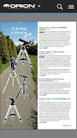Screenshot of Orion Telescopes & Binoculars