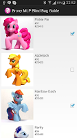 Screenshot of Brony MLP Blind Bag Guide