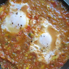 Gazpacho Poached Eggs