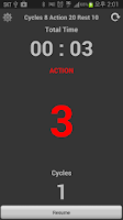 Screenshot of TABATA Timer