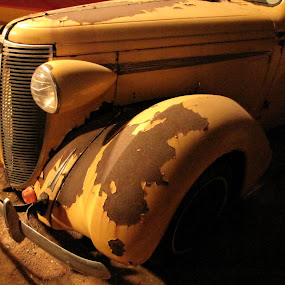 Worked Hard by Diane Butler - Artistic Objects Other Objects ( old, taxi, worn, forgein, yellow, rusty )