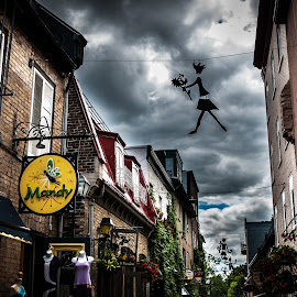 Mandy by Bruno Gallant - City,  Street & Park  Street Scenes ( clouds, quebec, details, street, quebec city )