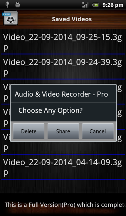 Audio and Video Recorder Pro Screenshot 9