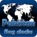 Pakistan flag clocks icon