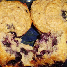 Healthy Low-Fat Blueberry (Or Chocolate) Oatmeal Muffins