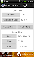 Screenshot of GPS Local Time Converter