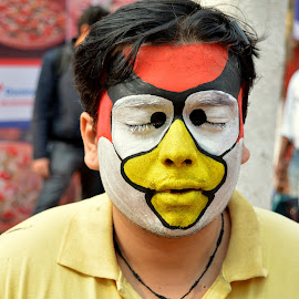 Face Paint SF IITKGP by Prittam Dholpuria - Painting All Painting ( spring fest, colourful, event, colors, face paint, face painting )