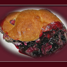 Peach Blueberry Cobbler-Easy With Bisquick