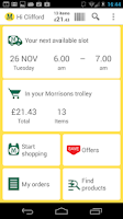 Screenshot of Morrisons Groceries