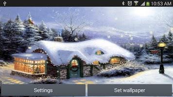 Screenshot of snow christmas santa claus