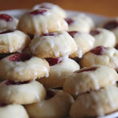 Raspberry and Almond Thumbprints