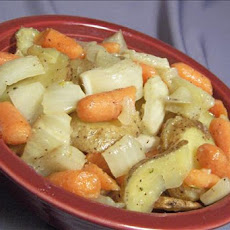 Roasted Potatoes, Carrots, and Fennel
