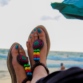 Holiday by Bharath Kesana - People Body Parts ( holiday, footwear, legs, beach, relaxing, artistic, object )
