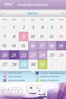Screenshot of Ovulation calendar