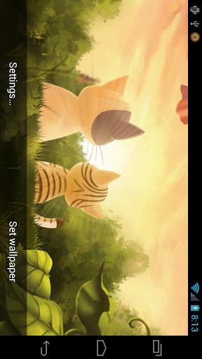 無料个人化Appの子猫サンセット壁紙無料|記事Game